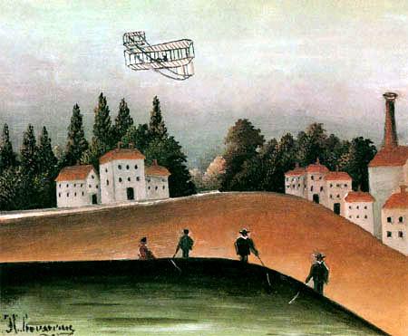 Henri Julien Félix Rousseau - Fischerleute und Flugmaschine