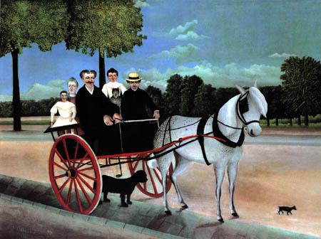 Henri Julien Félix Rousseau - Père Juniet´s Pferdewagen