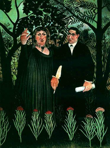Henri Julien Félix Rousseau - Die Muse inspiriert den Poeten