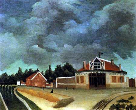 Henri Julien Félix Rousseau - The chair factory in Alfortville