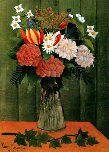 Henri Julien Félix Rousseau - Flowers in a vase