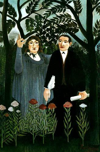Henri Julien Félix Rousseau - The Muse inspires the poet