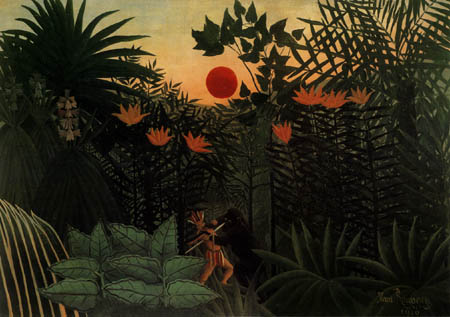 Henri Julien Félix Rousseau - Indian fights with an ape