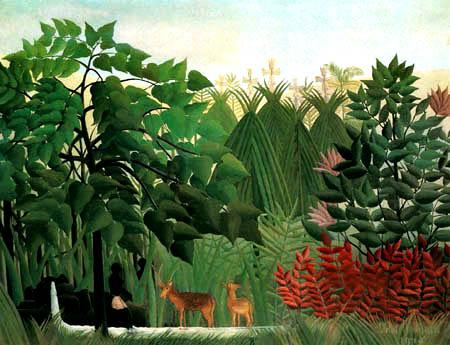 Henri Julien Félix Rousseau - The waterfall