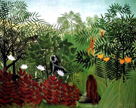 Henri Julien Félix Rousseau - Tropischer Wald mit Affen