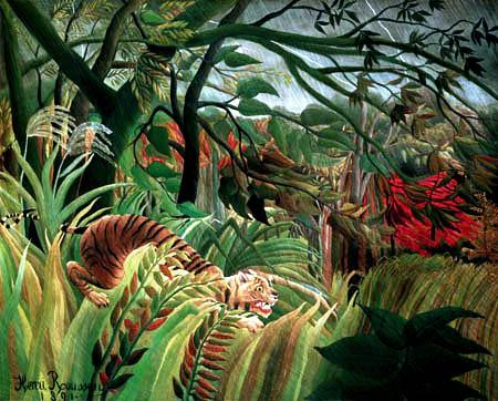 Henri Julien Félix Rousseau - Surprise, Tropical Storm with Tiger