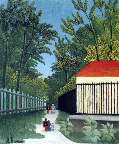 Henri Julien Félix Rousseau - Entrance to the park Monsouris