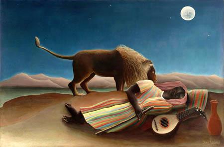 Henri Julien Félix Rousseau - Sleeping Gypsy