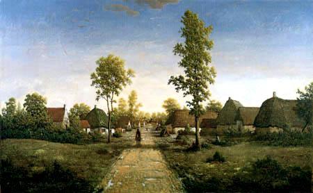 Théodore P. E. Rousseau - Das Dorf Becquigny