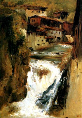 Théodore P. E. Rousseau - Der Wasserfall von Thiers