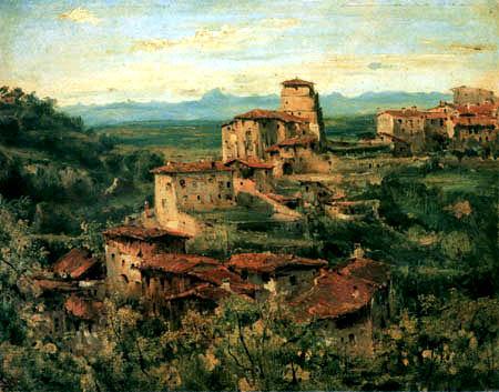 Théodore P. E. Rousseau - Die Stadt von Thiers