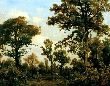 Théodore P. E. Rousseau - Die große Eiche im Wald von Fontainebleau