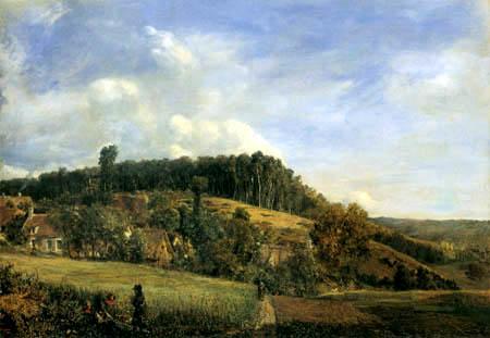 Théodore P. E. Rousseau - Gehöfte am Wald von Compiègne