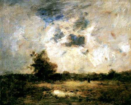 Théodore P. E. Rousseau - Landschaft in der Abendsonne