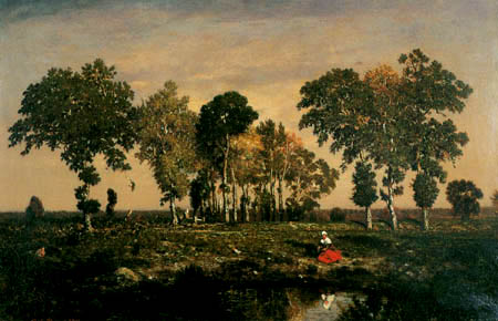 Théodore P. E. Rousseau - The pond