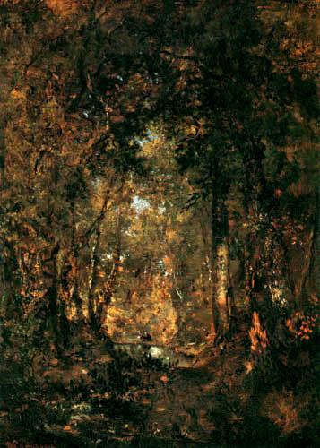 Théodore P. E. Rousseau - Waldlichtung mit Teich