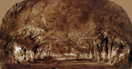 Théodore P. E. Rousseau - The chestnut avenue