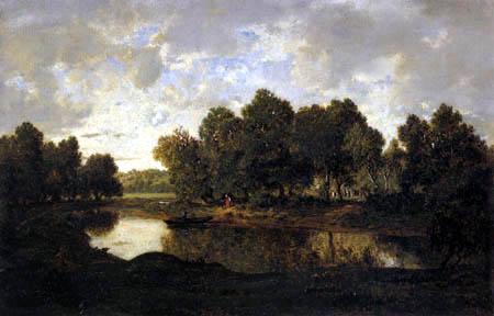 Théodore P. E. Rousseau - Landscape near Barbizon