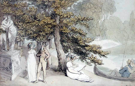 Thomas Rowlandson - Elegant Company in a Park