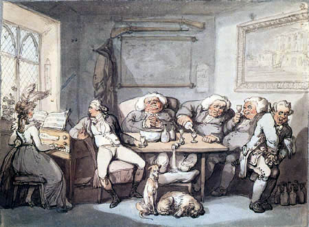 Thomas Rowlandson - Inside of a Parsonage