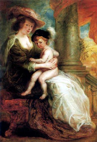 Peter Paul Rubens - Helena Fourment und ihr Sohn Frans