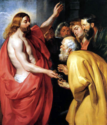 Peter Paul Rubens - Christ hands the keys to Petrus