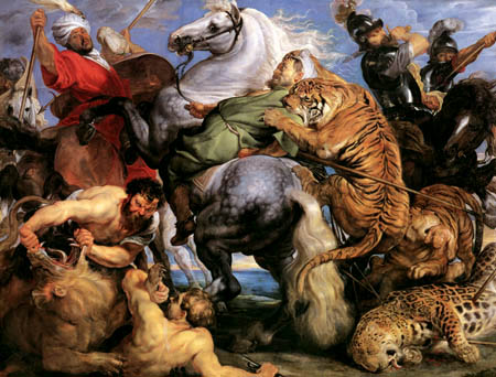 Peter Paul Rubens - Tiger hunt