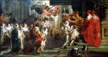 Peter Paul Rubens - The coronation of the Queen in St. Denis