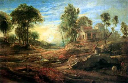 Peter Paul Rubens - Landschaft mit Tränke