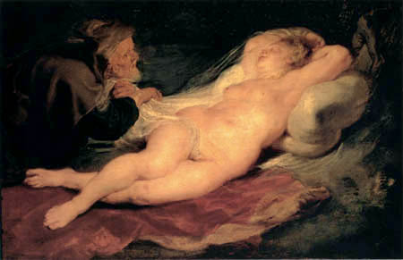 Peter Paul Rubens - Angeliaa and the hermit