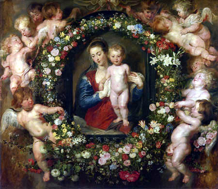 Peter Paul Rubens - Madonna in a Floral Wreath
