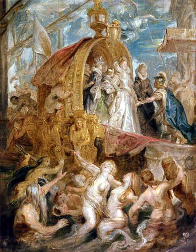 Peter Paul Rubens - Medici-Zyklus: Die Landung in Marseille