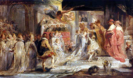 Peter Paul Rubens - The Medici Cycle: Crowning of the Queen