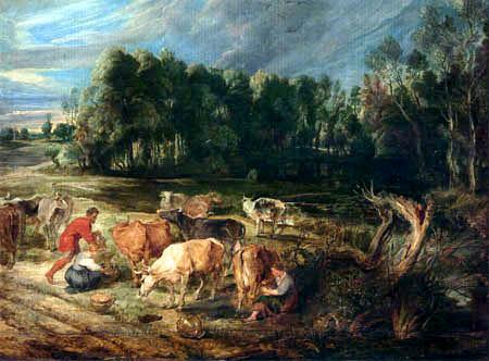 Peter Paul Rubens - Polderlandschaft mit einer Kuhherde