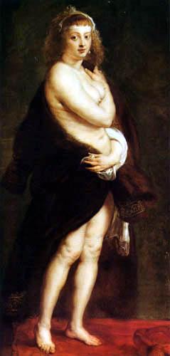 Peter Paul Rubens - Das Pelzchen, Helena Fourment