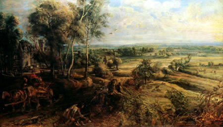 Peter Paul Rubens - An Autumn Landscape with a View of Het Steen