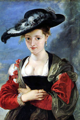 Peter Paul Rubens - The lady with the feather hat