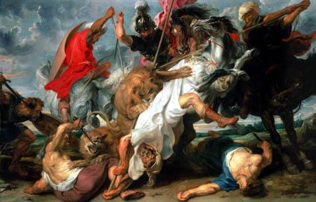 Peter Paul Rubens - Chasse au lion