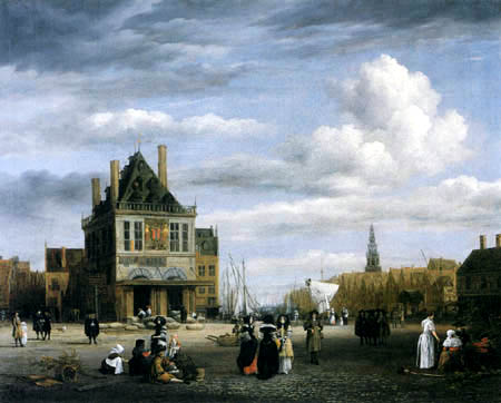 Jacob Isaack van Ruisdael - Damplace,  Amsterdam