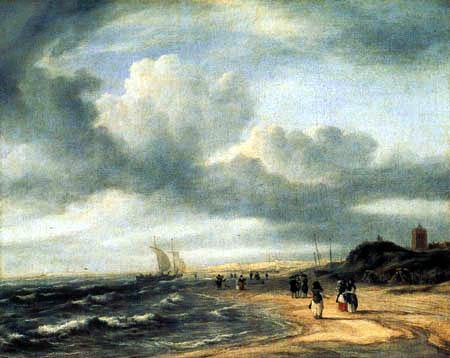 Jacob Isaack van Ruisdael - Strand bei Egmond aan Zee