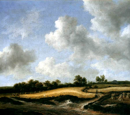 Jacob Isaack van Ruisdael - Landscape with wheat field