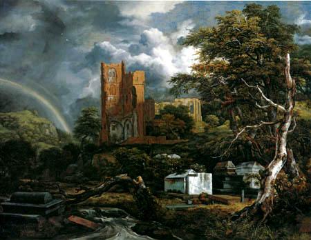Jacob Isaack van Ruisdael - Jew cemetery