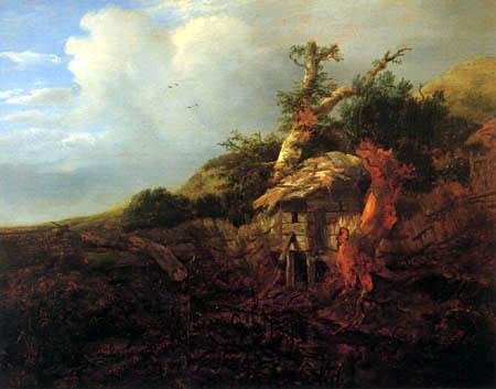 Jacob Isaack van Ruisdael - Dune landscape with hovel