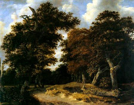 Jacob Isaack van Ruisdael - Weg durch einen Eichenwald