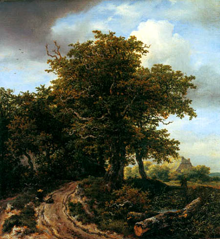Jacob Isaack van Ruisdael - Wanderer am Wegesrand