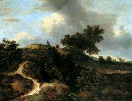 Jacob Isaack van Ruisdael - Sandweg in den Dünen