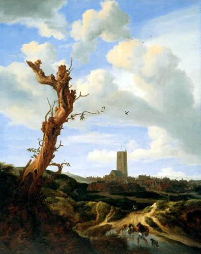Jacob Isaack van Ruisdael - View of Egmond aan Zee