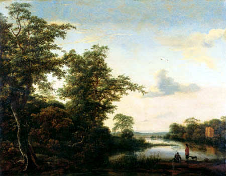 Jacob Isaack van Ruisdael - Landscape in the morning