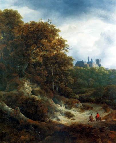 Jacob Isaack van Ruisdael - Landschaft um Schloß Bentheim