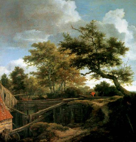 Jacob Isaack van Ruisdael - Die Wassermühle am Wald